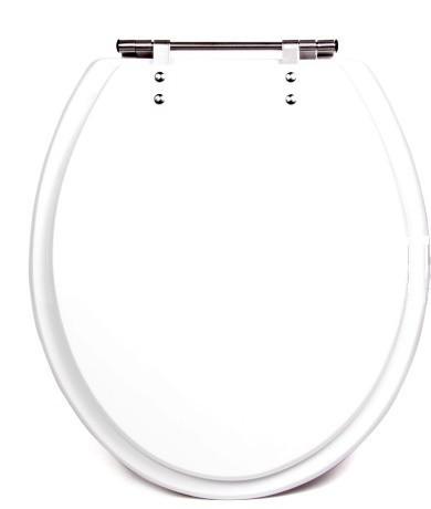 Assento Poliéster/Acrílico Izy / Oval Convencional Branco Para Bacia Izy Conforto Com Caixa Acoplada - P115