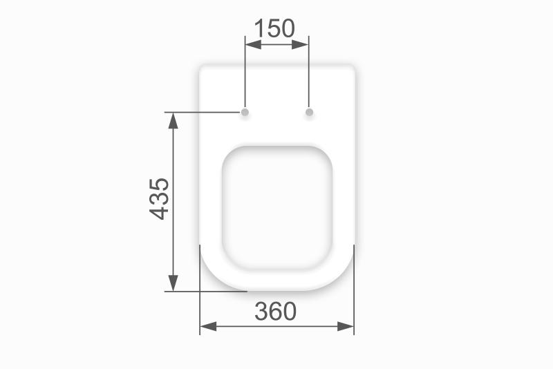 Assento Poliéster/Acrílico Unic para Deca.
