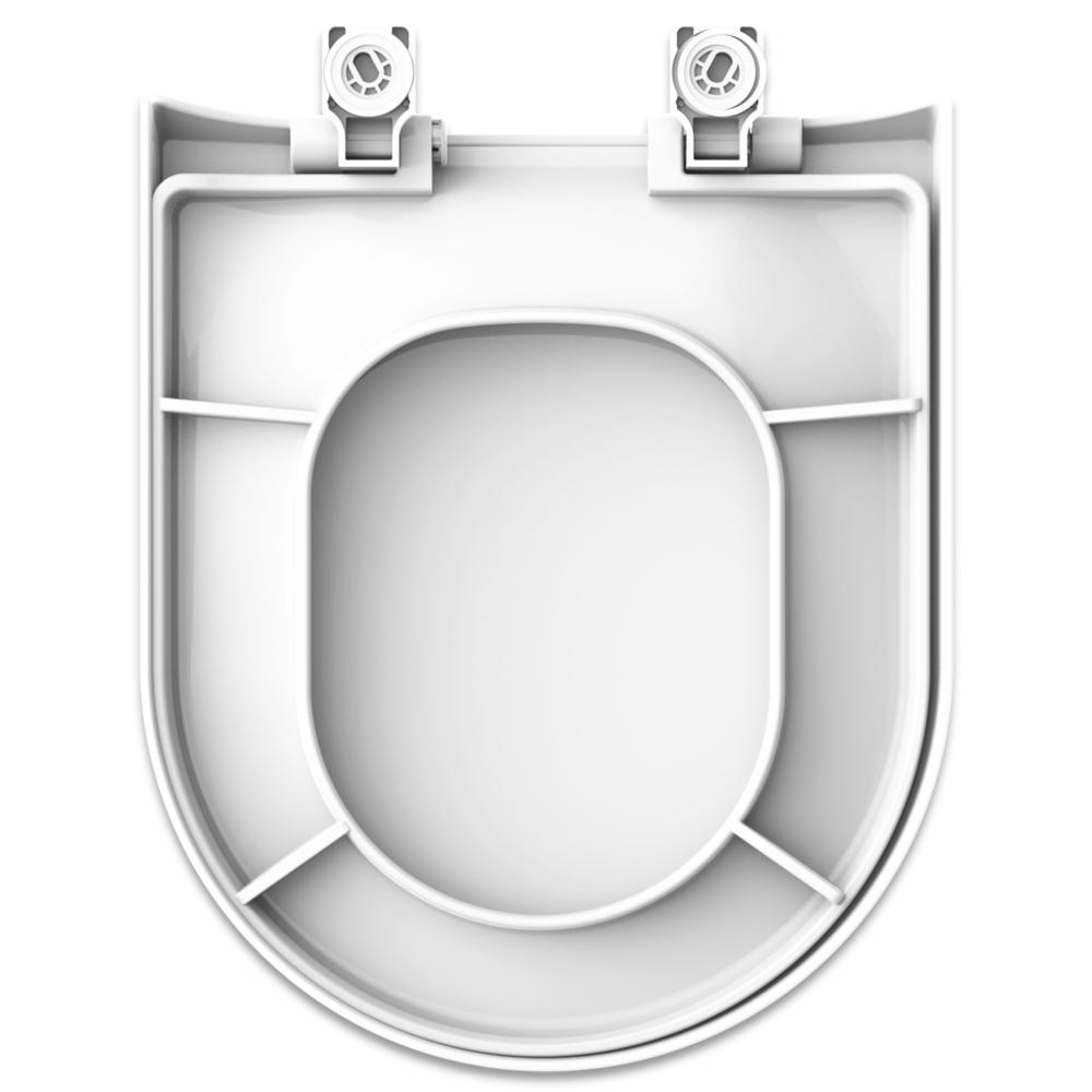 Assento Polipropileno com Fechamento Suave  Carrara para Louça Deca.