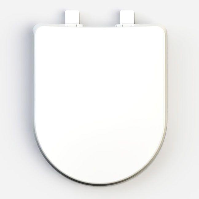 Assento Luna Soft-Close Tupan PP Branco e/ou LUNA SPECIALE com Fechamento Suave para Louça Icasa