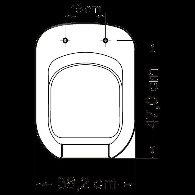 Assento Vogue Acessível Tupan PP BRANCO. Para Deficiente, Cadeirante ou Idoso.