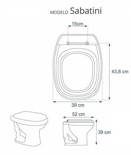 Assento Sabatini Branco Laqueado Luxo para Bacia Sanitária Icasa