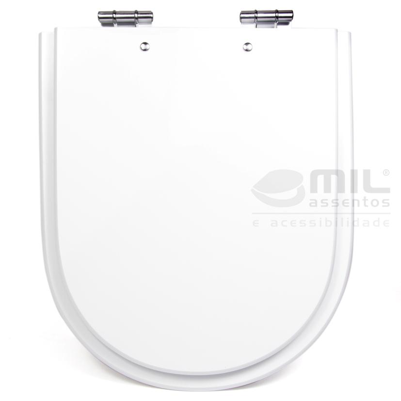 Assento Sanitário Carrara / Duna / Nuova / Link / LK  para Louça Deca em Madeira Laqueada (MDF)
