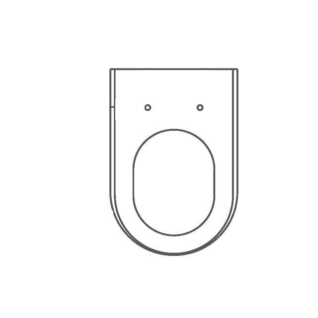 Assento Carrara Colorido Poliéster/Acrílico -CORES TRANSLUCIDAS; SERVE para as Louças Carrara, Duna, Nuova, Link, LK, Level da Deca.