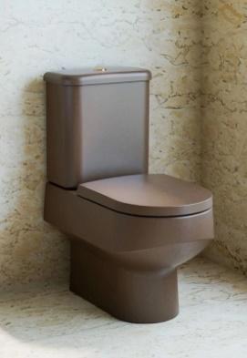 Assento Sanitário Carrara  MARROM FOSCO Termofixo Tupan para Louça Deca com Fechamento Suave