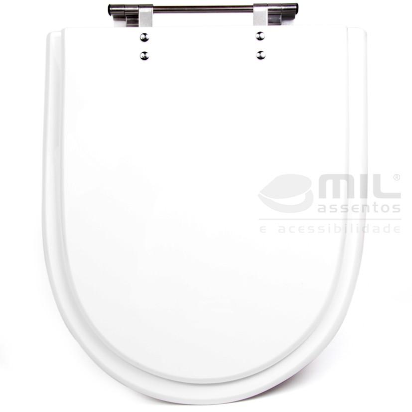 Assento Sanitário Duomo Plus para Louça Deca em Poliéster / Acrílico (Resina de Poliester 100% Pura)