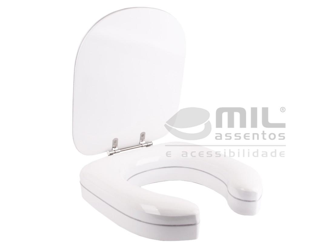 Assento Sanitário Elevado Almofadado 7 cm  para Idosos, Desabilitados e Mobilidade Reduzida