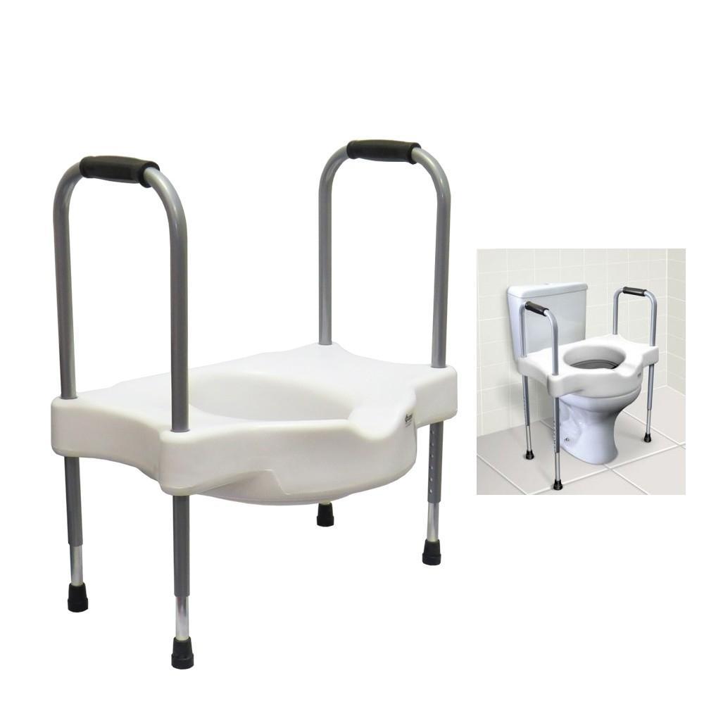 Assento Elevado Com Alças Laterais para Apoio de Idosos e Desabilitados; também para Deficientes e Cadeirantes.