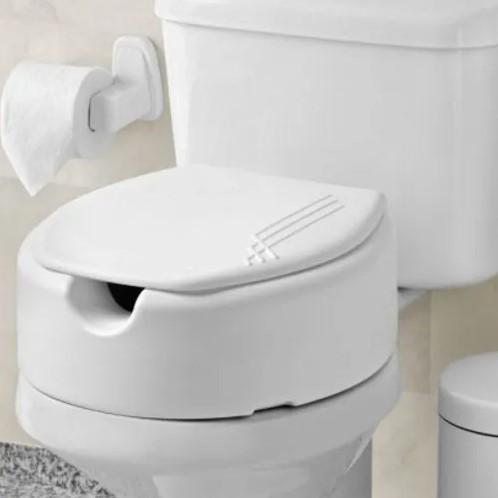 Assento Sanitário Especial Elevado 13,5 cm Branco Mebuki para Bacia Deca Ravena