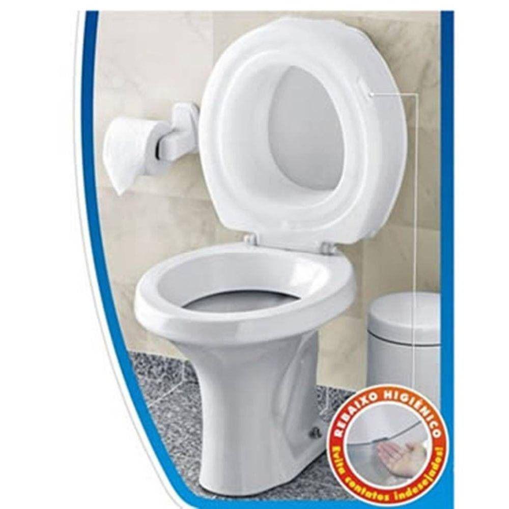 Assento Sanitário Especial Elevado 7,5cm Branco Mebuki para Bacia Deca Ravena