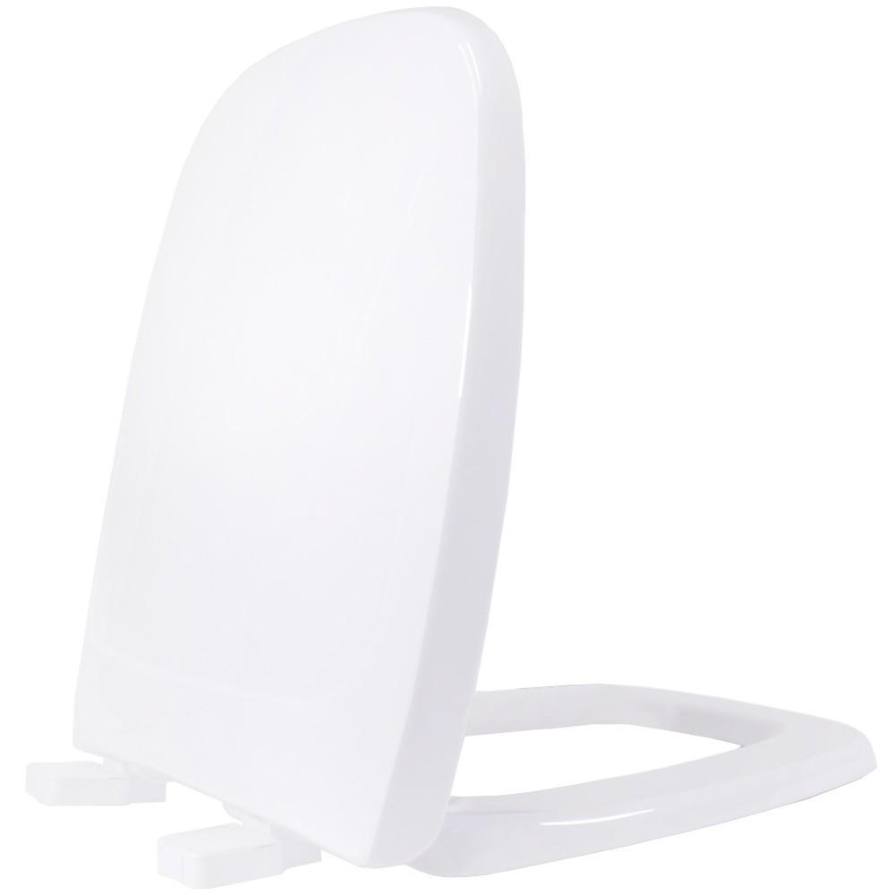 Assento Flex  Tupan PP Branco para Louça Deca com Fechamento Comum