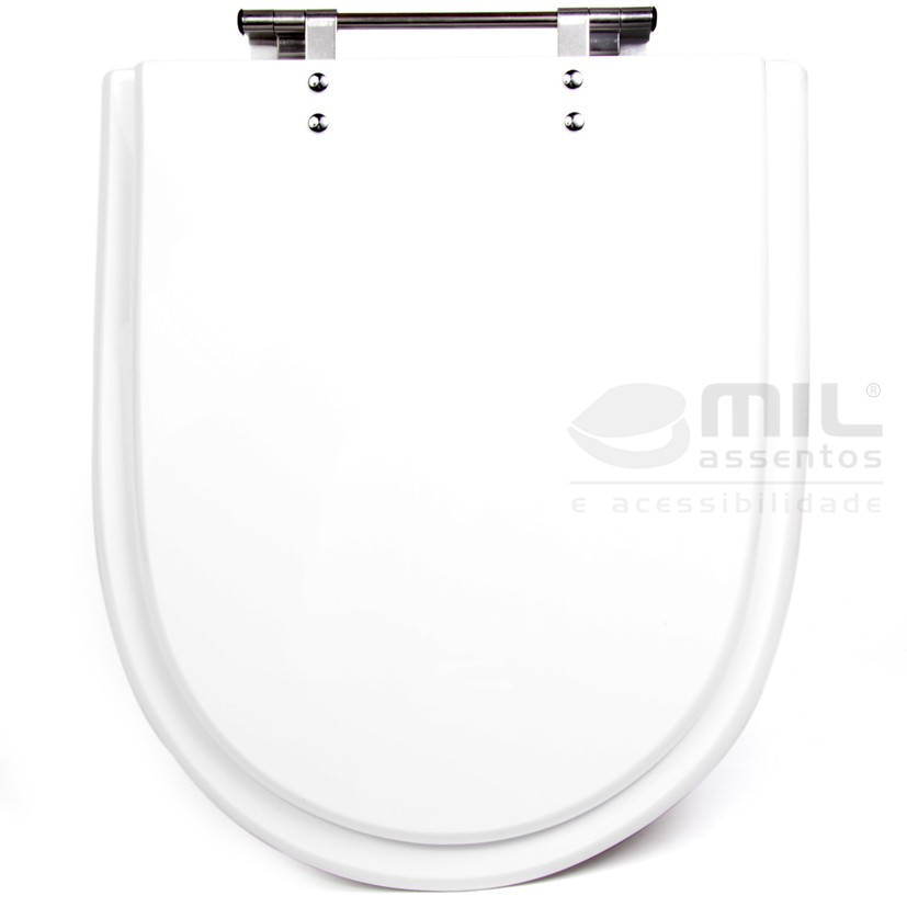 Assento Meridian Poliéster/Acrílico para Louça Roca
