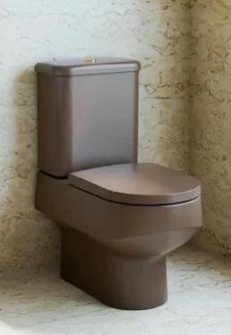 Assento Sanitário Nuova MARROM FOSCO Termofixo Tupan para Louça Deca com Fechamento Suave