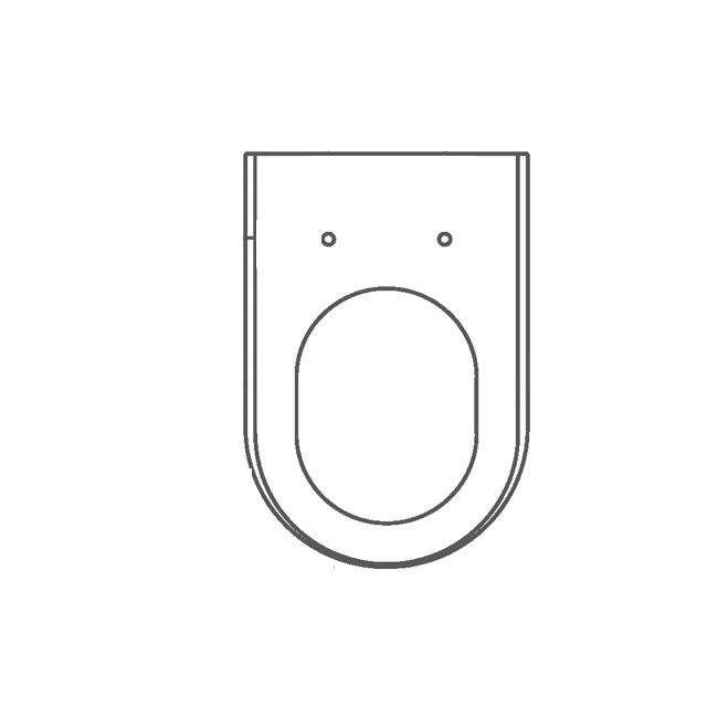Assento Poliéster/Acrílico Omega para Deca em CORES TRANSLUCIDAS