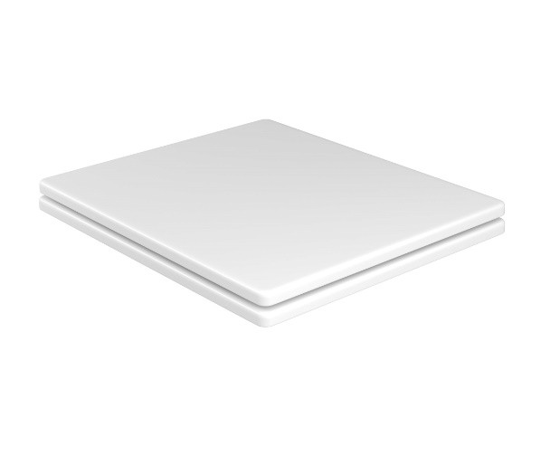 Assento BOUTIQUE Soft-Close Poliéster/Acrílico Quadrata para Louça Deca