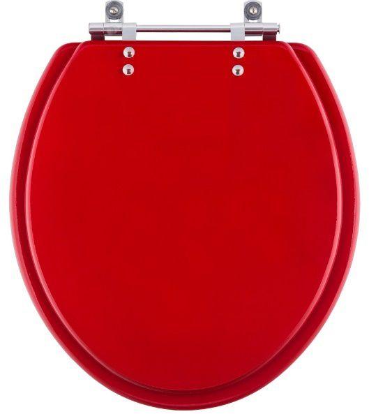 Assento VERMELHO ACRÍLICO OU RESINA DE POLIÉSTER - para todos os tipos e modelos de vasos sanitários.