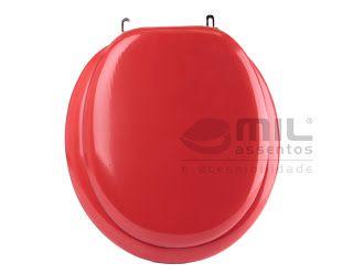 Assento VERMELHO ALMOFADADO LUXO para todos os tipos e modelos de vasos sanitários.