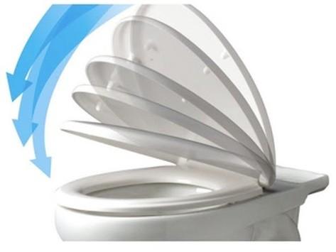 Assento Sanitário Versato com Fechamento Suave SOFT CLOSE ou SLOW CLOSE Em Polipropileno para Louça Celite