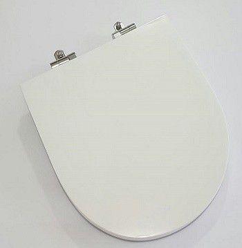 Assento Soft - Close Laura Poliéster/Acrílico cor branca para Louça Roca.