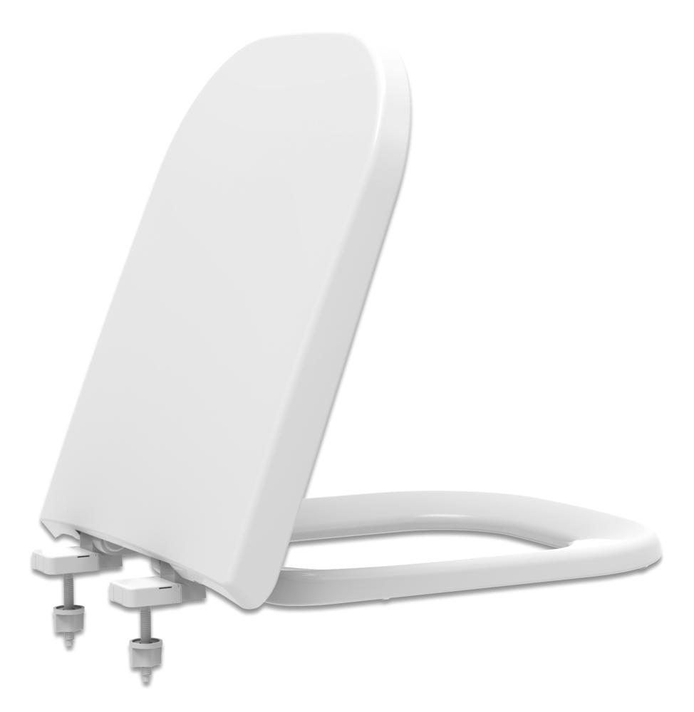 Assento SOFT-CLOSE  PIANO Tupan PP para Louça Deca com Fechamento Suave