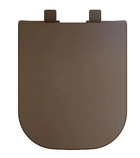 Assento Soft-Close Quadra / Axis / Piano / Polo / Unic MARROM FOSCO Termofixo Tupan para Louça Deca com Fechamento Suave