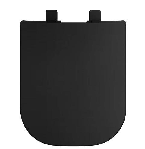 Assento Soft-Close Quadra / Axis / Piano / Polo / Unic PRETO  MATTE FOSCO Termofixo Tupan para Louça Deca com Fechamento Suave