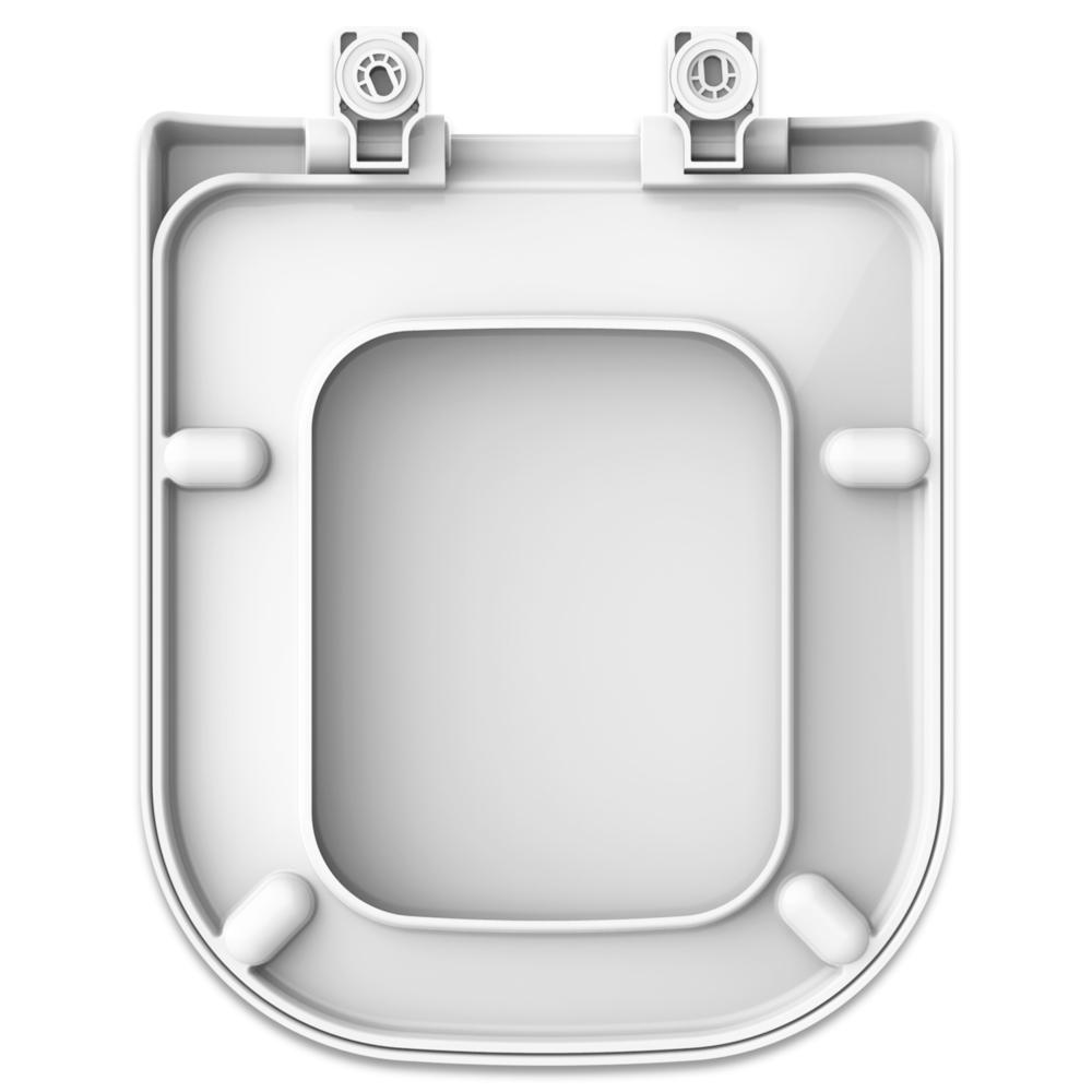 Assento Soft-Close Quadra  Termofixo Tupan para Louça Deca com Fechamento Suave