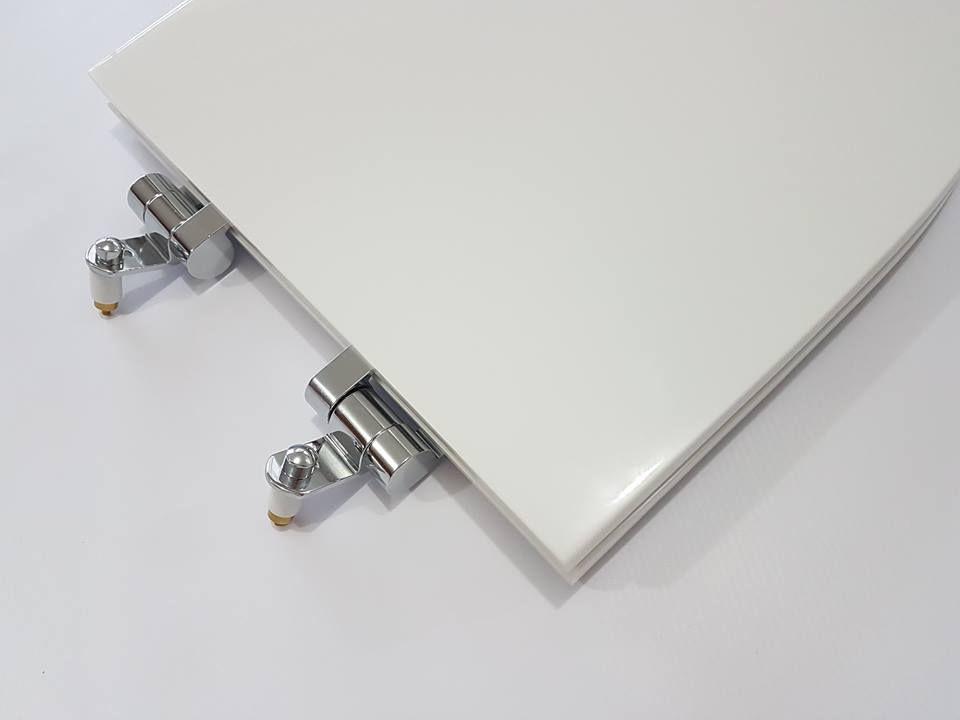 Assento Soft - Close Victória Poliéster/Acrílico cor branca para Louça Roca.