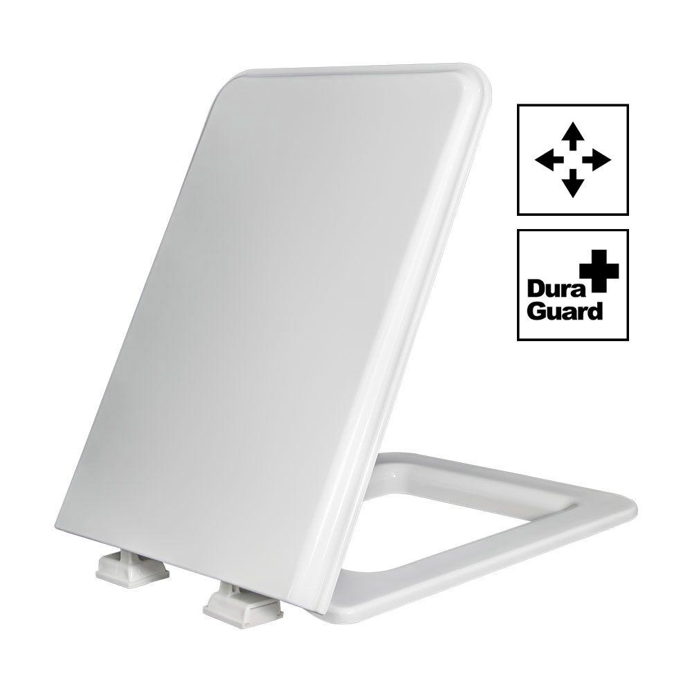 Assento Square Termofixo Tupan - branco  para Louça Incepa.