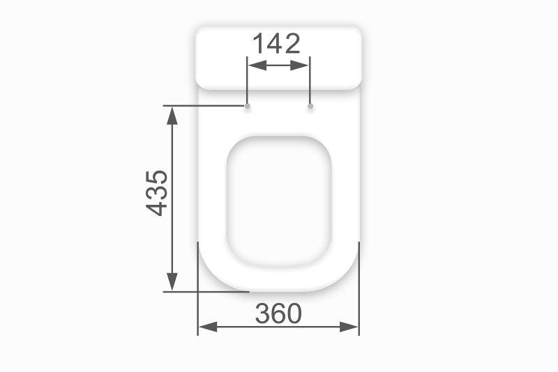 Assento SUPER LUXO EM MADEIRA MOLDADA para Bacia Axis / Quadra / Polo / Unic -Deca Marrom Fosco com Ferragem na cor do Assento