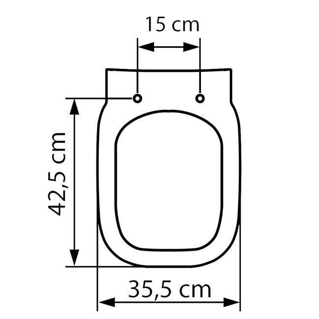 Assento DEBBA Soft-Close Termofixo Branco Tupan para Louça Roca com Fechamento Suave