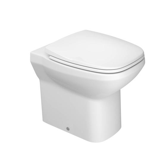 Assento Termofixo Flex  Slow Close e Easy Clean AP386-17 Branco - para Deca com Fechamento Suave