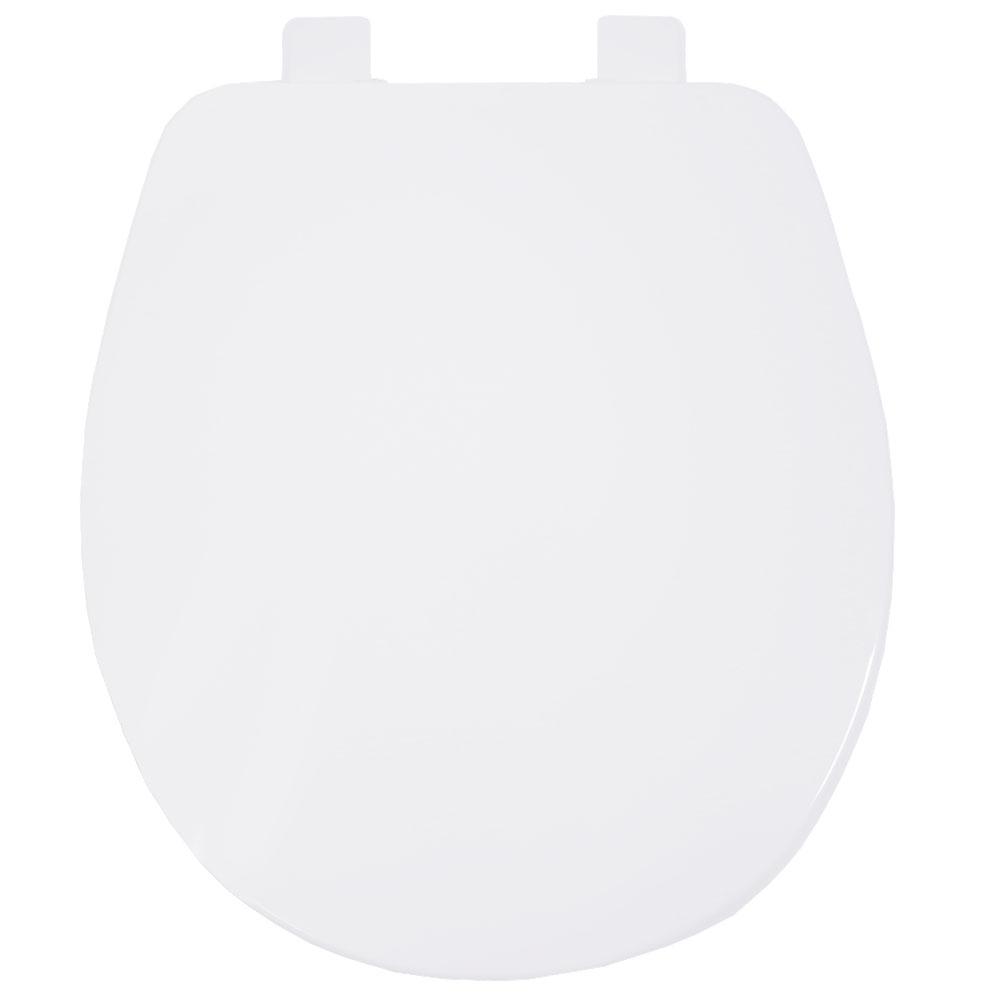 Assento Universal Evolution Resina Termofixa BRANCO SOFT-CLOSE OVAL PADRÃO, para todas as Louças Ovais
