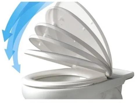 Assento Universal Solution Polipropileno BRANCO SOFT-CLOSE Ravena para Deca