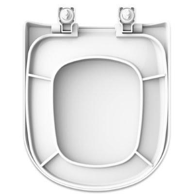 Assento Vogue Plus Branco em Polipropileno (PP) com fechamento suave para bacia Vogue Plus Conforto - P510