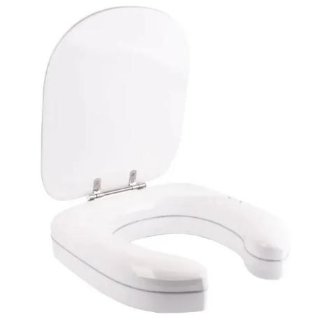 Assento Vogue Plus com  Altura 7 Cm Almofadado Super luxo Branco