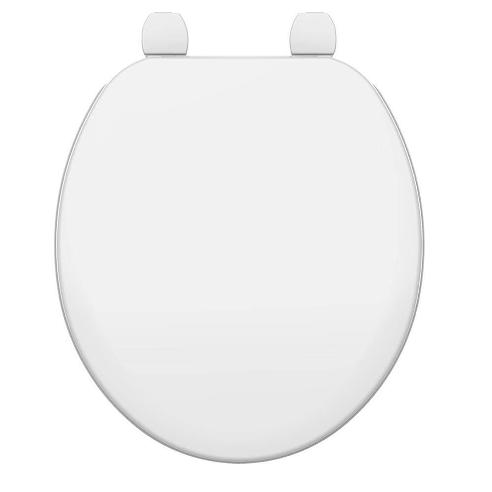 Assento Zip / Oval Convencional BRANCO Tupan - DURAGARD - PP -  para Louça Incepa