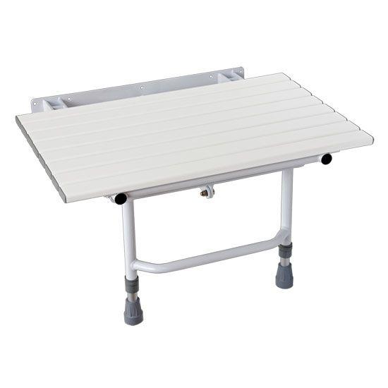 BANCO ARTICULADO/RETRÁTIL DA NBR-9050 - para BOX de Banheiro, com Pés de Apoio, mede 70 x 45 cm, utilizado para BANHO de Cadeirantes Deficientes (PNE) (PCD) Idosos e Desabitados