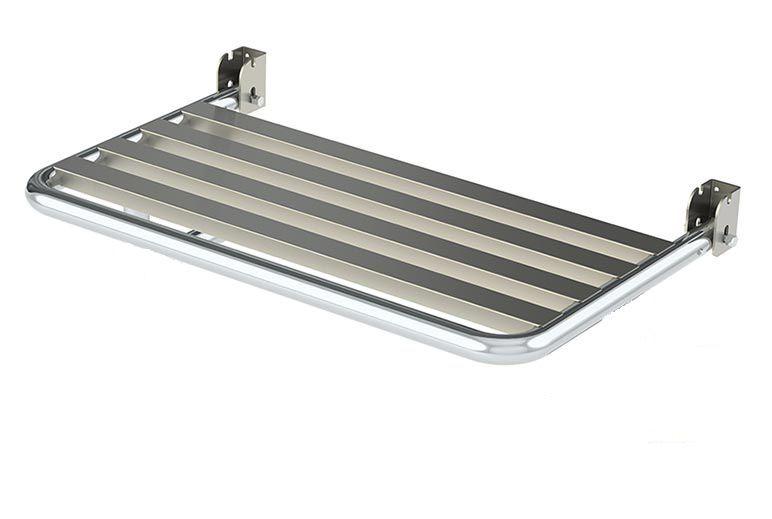 Banco Articulado de box para banho em aço inóx polido (70 x 45 cm) conforme NBR 9050.