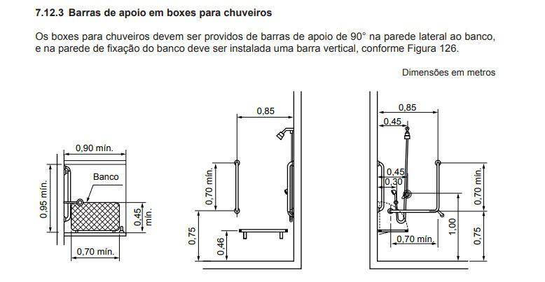 Barra de Apoio da NBR-9050 - em Aço Inóx em L de 70x70 cm em Aço Inóx Polido - NBR 9050