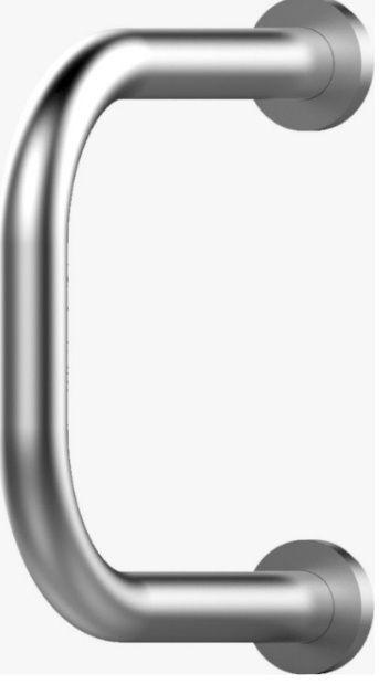Suporte Lateral para Lavatório em Aço Inóx Polido - NBR 9050
