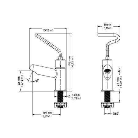 Torneira para Banheiro Deficiente da NBR-9050 Pressmatic Benefit  Docol - para Banheiro PNE de Deficiente e Idoso