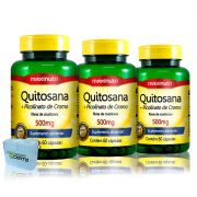 3x Quitosana + Picolinato de Cromo 60 Caps - Maxinutri
