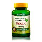 Cha de Hibisco com Acerola 60 Caps - Maxinutri