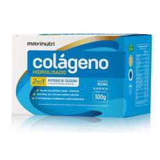 Colágeno Hidrolisado 2 em 1 (caixa com 30 sachês de 10g) - Maxinutri