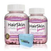 Combo 2x Hairskin Femme 90 Caps + Porta Caps - Maxinutri