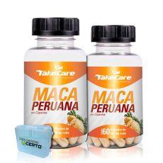 Combo 2x Maca Peruana 60 Caps + Porta Cápsulas - Take Care