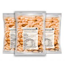 Combo 3x Amendoim Torrado sem Pele e sem Sal 1kg - Esverdeando