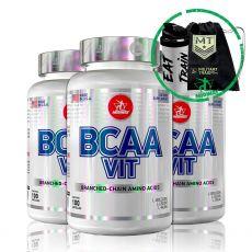 Combo 3x Bcaa Vit 100 Caps + Brindes - Midway