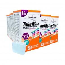 Combo 5x Complexo Vitamínico Take Max A Z 500mg 30 Caps - Take Care